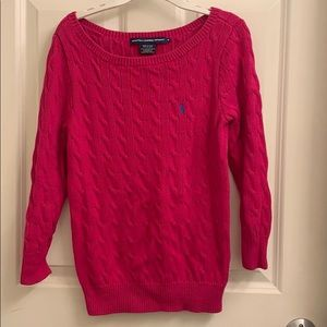 Bright Pink Ralph Lauren Sport Sweater